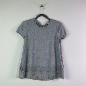 {LOFT} Two Tone Short Sleeve Shirt Sz S